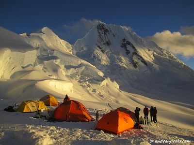High Camp Alpamayo & Quitaraju
